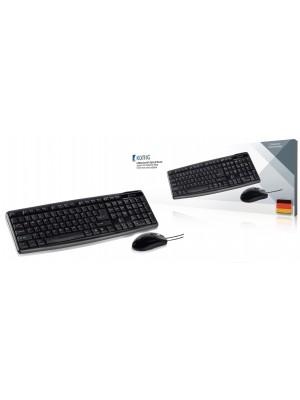 König Bedrade Muis en Keyboard Standaard USB Duits Zwart