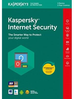 Kaspersky internet security 1PC 1jaar