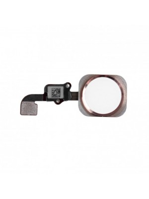 Home Button incl. Flex Cable - Rose Gold, for model iPhone 6S Plus